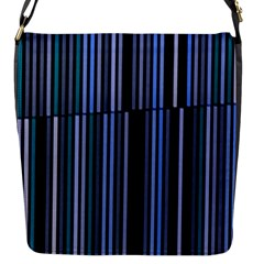 Shades Of Blue Stripes Striped Pattern Flap Messenger Bag (s) by yoursparklingshop