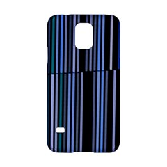 Shades Of Blue Stripes Striped Pattern Samsung Galaxy S5 Hardshell Case  by yoursparklingshop