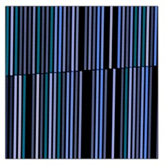 Shades Of Blue Stripes Striped Pattern Large Satin Scarf (square)