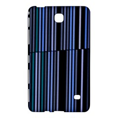 Shades Of Blue Stripes Striped Pattern Samsung Galaxy Tab 4 (8 ) Hardshell Case