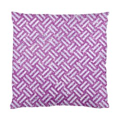 Woven2 White Marble & Purple Glitter Standard Cushion Case (two Sides) by trendistuff