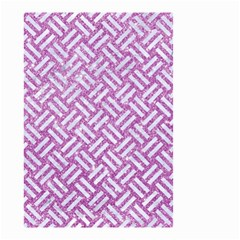 Woven2 White Marble & Purple Glitter Small Garden Flag (two Sides) by trendistuff