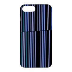 Shades Of Blue Stripes Striped Pattern Apple Iphone 7 Plus Hardshell Case