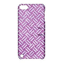 Woven2 White Marble & Purple Glitter Apple Ipod Touch 5 Hardshell Case With Stand by trendistuff