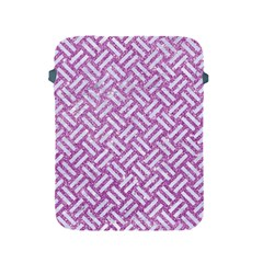 Woven2 White Marble & Purple Glitter Apple Ipad 2/3/4 Protective Soft Cases by trendistuff