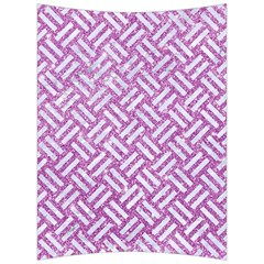 Woven2 White Marble & Purple Glitter Back Support Cushion by trendistuff