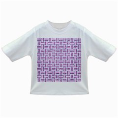 Woven1 White Marble & Purple Glitter (r) Infant/toddler T Shirts by trendistuff