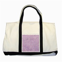Woven1 White Marble & Purple Glitter (r) Two Tone Tote Bag by trendistuff