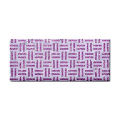 Woven1 White Marble & Purple Glitter (r) Cosmetic Storage Cases by trendistuff