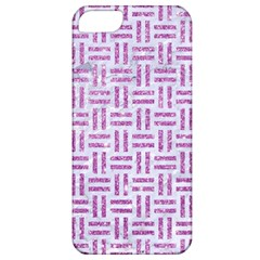 Woven1 White Marble & Purple Glitter (r) Apple Iphone 5 Classic Hardshell Case by trendistuff