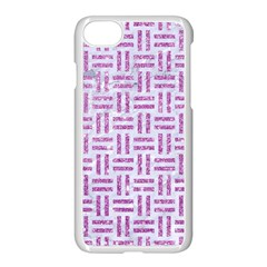 Woven1 White Marble & Purple Glitter (r) Apple Iphone 7 Seamless Case (white) by trendistuff