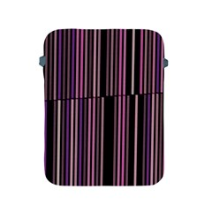 Shades Of Pink And Black Striped Pattern Apple Ipad 2/3/4 Protective Soft Cases