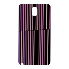 Shades Of Pink And Black Striped Pattern Samsung Galaxy Note 3 N9005 Hardshell Back Case