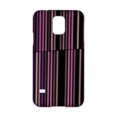 Shades Of Pink And Black Striped Pattern Samsung Galaxy S5 Hardshell Case