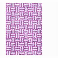 Woven1 White Marble & Purple Glitter Small Garden Flag (two Sides) by trendistuff