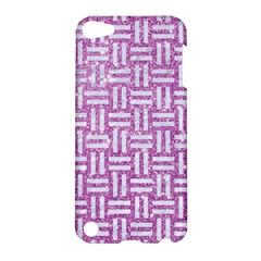 Woven1 White Marble & Purple Glitter Apple Ipod Touch 5 Hardshell Case by trendistuff
