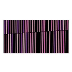 Shades Of Pink And Black Striped Pattern Satin Shawl