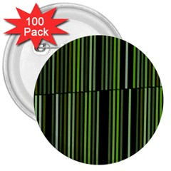Shades Of Green Stripes Striped Pattern 3  Buttons (100 Pack)  by yoursparklingshop