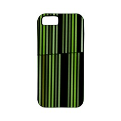 Shades Of Green Stripes Striped Pattern Apple Iphone 5 Classic Hardshell Case (pc+silicone) by yoursparklingshop