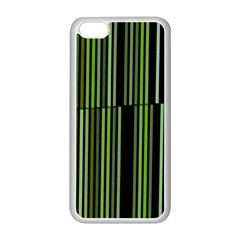 Shades Of Green Stripes Striped Pattern Apple Iphone 5c Seamless Case (white) by yoursparklingshop