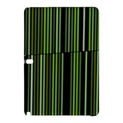 Shades Of Green Stripes Striped Pattern Samsung Galaxy Tab Pro 10 1 Hardshell Case by yoursparklingshop