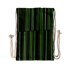 Shades Of Green Stripes Striped Pattern Drawstring Bag (small) by yoursparklingshop