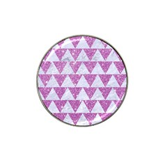 Triangle2 White Marble & Purple Glitter Hat Clip Ball Marker (10 Pack) by trendistuff