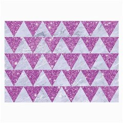 Triangle2 White Marble & Purple Glitter Large Glasses Cloth by trendistuff