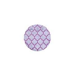 Tile1 White Marble & Purple Glitter (r) 1  Mini Magnets