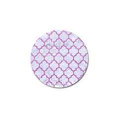 Tile1 White Marble & Purple Glitter (r) Golf Ball Marker (10 Pack) by trendistuff