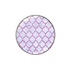 Tile1 White Marble & Purple Glitter (r) Hat Clip Ball Marker by trendistuff