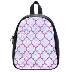 Tile1 White Marble & Purple Glitter (r) School Bag (small) by trendistuff