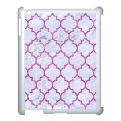 Tile1 White Marble & Purple Glitter (r) Apple Ipad 3/4 Case (white) by trendistuff