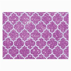 Tile1 White Marble & Purple Glitter Large Glasses Cloth (2 Side) by trendistuff
