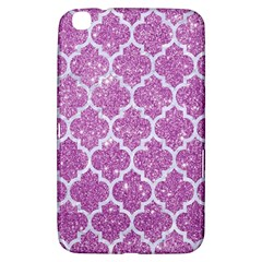Tile1 White Marble & Purple Glitter Samsung Galaxy Tab 3 (8 ) T3100 Hardshell Case  by trendistuff