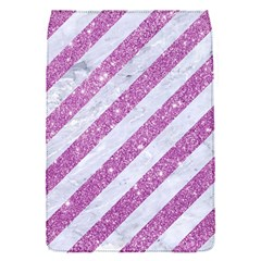 Stripes3 White Marble & Purple Glitter (r) Flap Covers (s)  by trendistuff