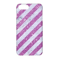 Stripes3 White Marble & Purple Glitter (r) Apple Iphone 8 Plus Hardshell Case by trendistuff