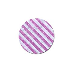 Stripes3 White Marble & Purple Glitter Golf Ball Marker (4 Pack) by trendistuff