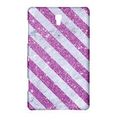 Stripes3 White Marble & Purple Glitter Samsung Galaxy Tab S (8 4 ) Hardshell Case  by trendistuff
