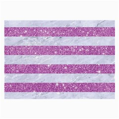 Stripes2white Marble & Purple Glitter Large Glasses Cloth by trendistuff
