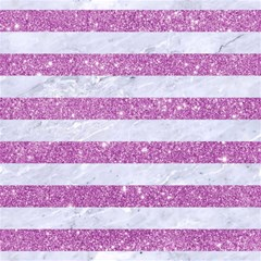 Stripes2white Marble & Purple Glitter Magic Photo Cubes by trendistuff
