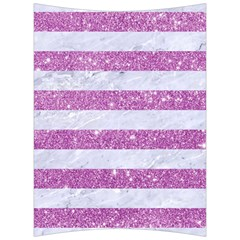 Stripes2white Marble & Purple Glitter Back Support Cushion by trendistuff