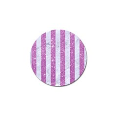 Stripes1 White Marble & Purple Glitter Golf Ball Marker (4 Pack) by trendistuff