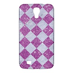 Square2 White Marble & Purple Glitter Samsung Galaxy Mega 6 3  I9200 Hardshell Case by trendistuff