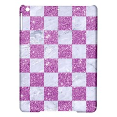 Square1 White Marble & Purple Glitter Ipad Air Hardshell Cases by trendistuff