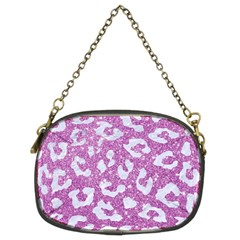Skin5 White Marble & Purple Glitter (r) Chain Purses (two Sides)  by trendistuff