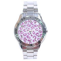 Skin5 White Marble & Purple Glitter Stainless Steel Analogue Watch by trendistuff