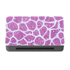 Skin1 White Marble & Purple Glitter (r) Memory Card Reader With Cf by trendistuff
