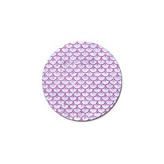 Scales3 White Marble & Purple Glitter (r) Golf Ball Marker (4 Pack) by trendistuff