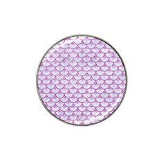 Scales3 White Marble & Purple Glitter (r) Hat Clip Ball Marker by trendistuff